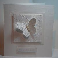 white on white butterfly card