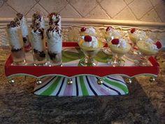 Holiday desserts. mini parfaits