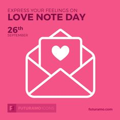 Express your feelings on Love Note Day! All icons used in the series are available in our App. Imagine what YOU could create with them! Check out our FUTURAMO ICONS – a perfect tool for designers & developers on futuramo.com #futuramo #futuramoapps #futuramoicons #futuramocalendar #icondesign #icons #iconsystem #freeicons #pixel #pixels #pixelperfect #flatdesign #ux #ui #uidesign #design #developer #developers #webdesign #app #appdesign