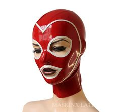Latex Rubber Hood with trimmed face and zipper Sexy Latex, Pink Latex, Latex Gif, Latex Bodysuit, Catsuit, Latex Hood, Vinyl Raincoat, Latex Gloves, Cat Mask