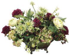 Ranunculus, Rose, Mum and Berry Arrangement