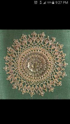 Marodi work Zardosi Embroidery, Hand Embroidery Dress, Hand Embroidery Videos, Bead Embroidery Patterns, Embroidery Works, Couture Embroidery, Hand Embroidery Stitches, Embroidery Fashion, Hand Embroidery Designs