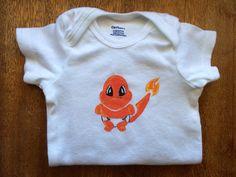 Pokemon inspired Charmander Baby 12 month unisex baby by hdorrell