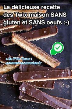 La Délicieuse Recette des Twix Maison SANS Gluten et SANS Oeufs.