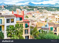 Architectural Buildings On Balearic Island In Santa Ponca Majorca. Modern Vacation Homes And Apartments In Historic Architecture Style, Image For Travel Business Concept, Tourism Blog, Books Stock Photo 514973452 : Shutterstock