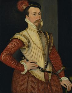 Steven van der Meulen, active 1543-1563, Netherlandish, active in Britain (from 1560), naturalized 1562, Robert Dudley, 1st Earl of Leicester, ca. 1560s, Oil on panel, Yale Center for British Art, Paul Mellon Collection cropped to image, recto, unframed