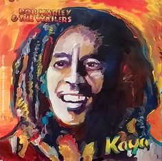 Bob Marley Kaya album cover art painting by Howie Green
