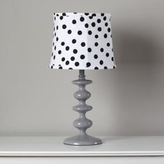 After debating whether to use spots or dots for this lamp shade, we decided to use both. Now we can't even tell them apart. Cotton table shade is available in two color schemes and is compatible with all our table bases.