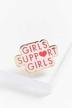 Shop Daisy Natives Girls Support Girls Pin at Urban Outfitters today. Native Girls, Swag, Pin And Patches, Your Girl, Small Gifts, Girl Boss, Stocking Stuffers, Cleaning Wipes, Pretty In Pink