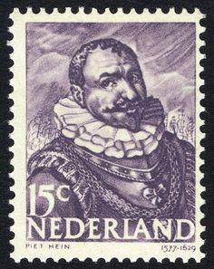 Stamp: Piet Hein (1577-1629) admiral (Netherlands) (Heroes at sea) Mi:NL 415,Sn:NL 255,Yt:NL 405,NVP:NL 415