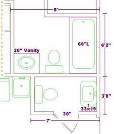 Small Bath Plans small bathroom plans | small bathroom floor plans: a space 6x7 ft