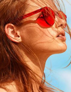 Protect your beautiful eyes this 4th of July week with a pair of fun red shades. Keep your eyes healthy while looking fabulous doing it