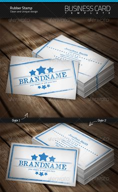 Rubber Stamp Business Card - GraphicRiver Item for Sale