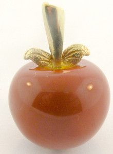 Cute!  LADIES 14K CARVED CARNELIAN APPLE CHARM PENDANT | eBay