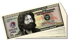 Jerry Garcia Novelty Million Dollar Bill - 10 Count with Bonus Clear Protector and Christopher Columbus Bill >>> Read more  at the image link.