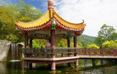 A Pavilion overlooking a scenic area at Air Itam, Penang, #Malaysia via Backpacking Travel Blog