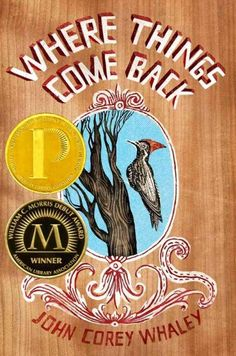 Where Things Come Back by John Corey Whaley (Grades 8 & up). Seventeen-year-old Cullen's summer in Lily, Arkansas, is marked by his cousin's death by overdose, an alleged spotting of a woodpecker thought to be extinct, failed romances, and his younger brother's sudden disappearance.