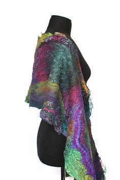 Nuno Felted Scarf Wrap | Super fine Australian merino wool, … | Flickr