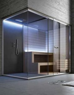 Diy Sauna, Home Spa Room, Spa Rooms, Steam Room Shower, Shower Tub, Saunas, Rustic Bathrooms, Modern Bathroom, Steam Sauna