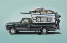 Love these paintings of vehicles by Kevin Cyr