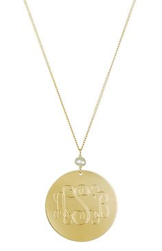 """Triple Monogram Necklace  perfect for your NEW initials! $190 Available at www.delicateraymond.com Use Coupon Code """"pinterest"""" for 20% off! xo!"""