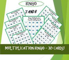 Kids Printable Games/ Bingo/ Kids Memory Games/  Bingo Bingo For Kids, Memory Games For Kids, Maths Paper, Paper Games, Times Tables Games, Math Multiplication Games, Printable Bingo Games, Fun Board Games, Calling Cards