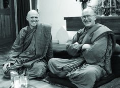 Ajahn Sumedho 80th birthday with Ajahn Sucitto