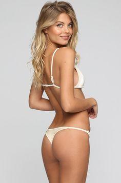 JYORK x DBRIE Cameron Reversible Bikini Bottom in Velvet Ivory/Nude|ISHINE365…
