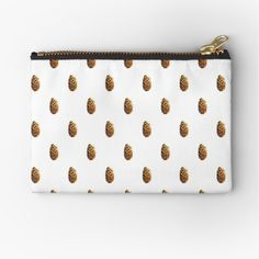 Pine Cones, Gifts For Family, Zipper Pouch, Zip Around Wallet, Coin Purse, Objects, Polka Dots, Cosmetics, Printed