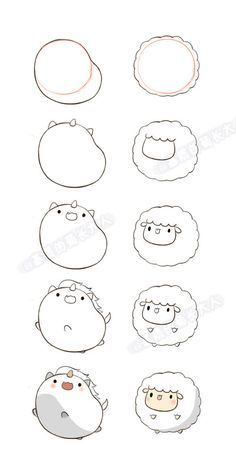 How to draw kawaii llama drawing unicorn and lamb a how do you draw kawaii cat . how to draw kawaii Cute Easy Drawings, Cute Animal Drawings, Kawaii Drawings, Drawing Animals, Beautiful Drawings, Beautiful Pictures, Beautiful Flowers, Doodle Art, Doodle Drawings