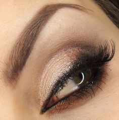 Beautiful wedding day look for the winter months! Look created by Dzastina252 using Makeup Geek's Brown Sugar, Corrupt, Mocha, and Shimma Shimma eyeshadows along with Afterglow & Vegas Lights pigment. Such a lovely look!
