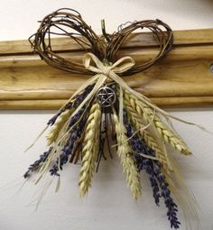 Lammas Wheat , Barley & Lavender Harvest Bow with Pentacle. via Etsy. by PositivelyPagan