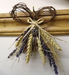 Lammas Wheat , Barley & Lavender Harvest Bow with Pentacle. via Etsy. by PositivelyPagan