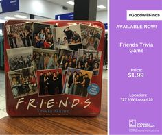 For all you FRIENDS buffs out there, there is a game just for you! Pick up this #FRIENDS trivia game at our Blanco store for only $1.99! Visit us online for other awesome #GoodwillFinds: http://www.goodwillsa.org/shop/store-finder