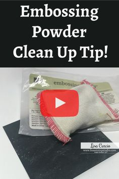 The Best Embossing Powder Clean Up Tip!, DIY and Crafts, I've got the best embossing powder clean up tip for you in today's quick tip video. Whether using embossing powder, or the Embossing Buddy (which is a. Card Making Tips, Card Making Tutorials, Card Making Techniques, Making Ideas, Embossing Techniques, Rubber Stamping Techniques, Embossing Powder, Embossed Cards, Stamping Up