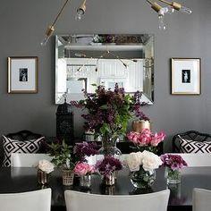 DIY Lindsey Adelman Chandelier, Contemporary, dining room, Ralph Lauren Mombasa Mist, Erika Brechtel