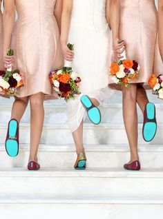 With colors to match any theme or dress, Tieks are the perfect addition to your big day and make great gifts for bridesmaids too! | Tieks Ballet Flats