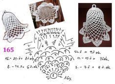 Best 10 zvonek s popisem 155 – SkillOfKing. Crochet Snowflake Pattern, Christmas Crochet Patterns, Holiday Crochet, Crochet Snowflakes, Crochet Motif, Diy Crochet, Crochet Flowers, Crochet Fairy, Crochet Ball