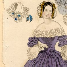Fashions and bonnets, Winter 1840 :: Fashion Plate Collection, 19th Century