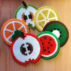 Fruit coasters hama beads by rollikadiseno