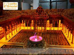 maqueta del patio de los leones con gofres alhambra de granada grupo axfito marketing original seduzione