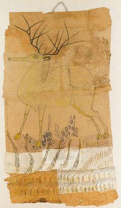 Martin Ramirez ~ UNTITLED (Stag) | American Folk Art Museum