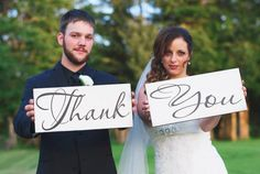 Thank You Signs, Vintage Wedding Signs, Thank You Cards, Reception Signs, Bride Signs, Marriage Signs.  8 X 16 inches, 1-sided. on Etsy, $51.95
