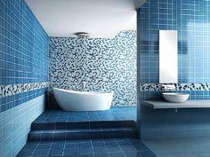 Blue tile bathroom ideas