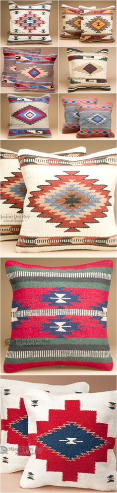 If you like southwest style and rustic decor, you will love the designs and colors of our southwest pillows. Rustic couch pillows are a great way to match western decor or Santa Fe style, and for adding some color to your rustic home decor. Check out our wide variety of popular southwest designs available. Southwest style is easy to achieve by simply adding a few colorful southwest accent pillows around the home. See more at http://www.missiondelrey.com/southwestern-pillows-pillow-covers/
