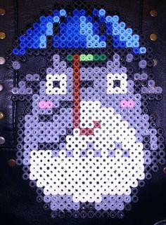 Totoro hama perler beads by Sonja Ahacarne