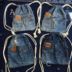 Wonderful Pictures Bag made of jeans residues 🎀 (without instructions) ・ ・ ・ ☆ ・ 𝔰𝔦𝔢𝔥𝔢ã . Ideas I enjoy Jeans ! And a lot more I want to sew my own personal Jeans. Next Jeans Sew Along I am goin Jean Crafts, Denim Crafts, Sewing Clothes, Diy Clothes, Sewing Aprons, Artisanats Denim, Mochila Jeans, Jean Diy, Jean Purses