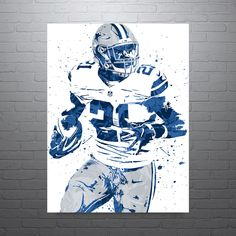"""Ezekiel """"Zeke"""" Elliott poster. Elliott is an American football running back for the Dallas Cowboys of the National Football League (NFL). He played college football at Ohio State, where he earned All-"""