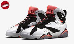 Nike Mädchen Air Jordan 7 Retro GG Laufschuhe, Weiß / Schwarz / Rot (Weiß / Weiß-Schwarz-Hot Lava), 40 1/2 EU (*Partner-Link)