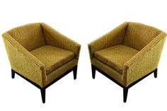 Pair of Angular Mid-Century Modern Lounge Chairs | From a unique collection of antique and modern lounge chairs at http://www.1stdibs.com/furniture/seating/lounge-chairs/